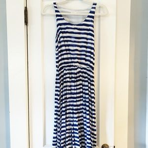 LaVand for Anthropologie striped watercolor dress
